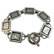VINTAGE Sterling Large Bracelet Six Links Unisex