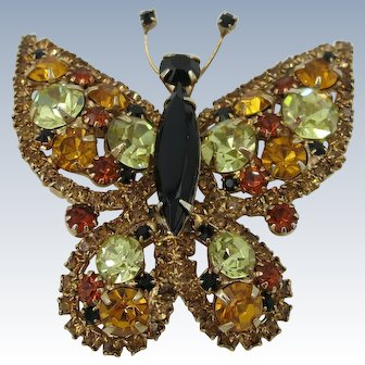 VINTAGE  Fall Colors Butterfly  Pretty Pretty
