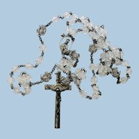 VINTAGE  Crystal Rosary With Lots of Sterling