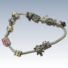 Pretty Sterling Charm Bracelet