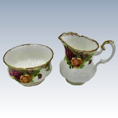 "Royal Albert ""Old Country Roses""  Sugar and Creamer"