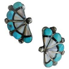 VINTAGE American Native Made Pierced Earrings