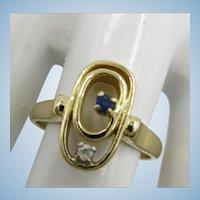 VINTAGE 14k Yellow Gold Pinkie Ring  Size  5 1/4