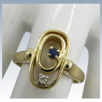 VINTAGE 14k Yellow Gold Pinkie Ring  Size  5 1/4