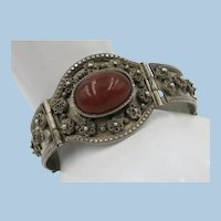 VINTAGE Middle East Bracelet Silver Content and Carnelian Set