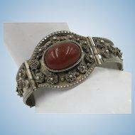 VINTAGE Middle East Bracelet Silver Content and Carnelian Set