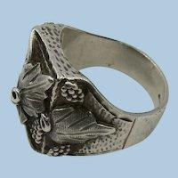 VINTAGE Landstrom's Sterling Black Hills Mans Ring size 10 1/2