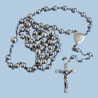 VINTAGE All Sterling Beaded Rosary