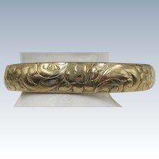 VINTAGE 12K Shell 20's Gold Filled Flowered Bracelet Beautiful