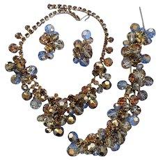 "VINTAGE 60's  Juliana Parure Golden  Beads  ""DeLizza and Elster Co"