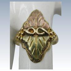 VINTAGE 10k  Black Hills Gold Ring  Size 7