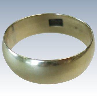 VINTAGE 14k  Yellow Gold Wedding Band Size 9 1/4
