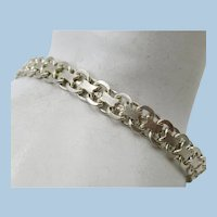VINTAGE Sterling 925  Bracelet Open Weave  7 1/2 Inches Long