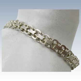 VINTAGE Sterling 925  Bracelet Open Weave  7 1/2 Inches Long