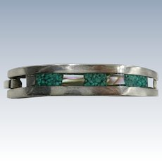 VINTAGE Child's Sterling Bracelet with Turquoise Chips