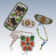 VINTAGE 4 Pieces of Beading by the Sioux Nation
