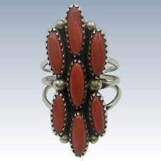 VINTAGE Zuni Coral Ring  My Personal Ring 60's Size 7 1/2