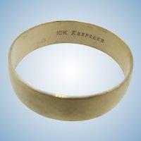 VINTAGE Keepsake Unisex Wedding Yellow Gold Band Size 12