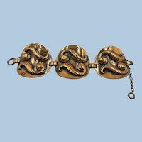VINTAGE 60'S Large Unmarked Copper Bracelet