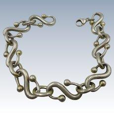 VINTAGE Mexican Sterling S Bracelet Heavy