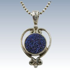 Sajen Balinese Jewelry Co Sterling Chain and druzy Pendant