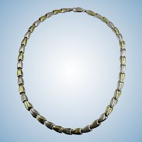 VINTAGE Classic Sterling and Vermeil Choker