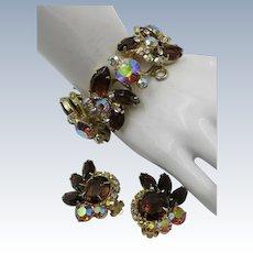 VINTAGE Juliana Bracelet and Earring Delizza& Elster  Jewelry Co NewYork