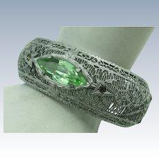 VINTAGE Rhodium Plated Bangle Bracelet  By John H. Peckham