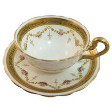 VINTAGE  Victoria English Bone China Cup and Saucer