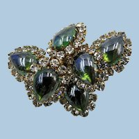 VINTAGE Austrian  Costume Brooch Bright and Sparkling