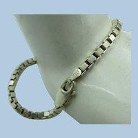 VINTAGE Square Link Box 8 Inch Unisex Chain Bracelet