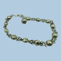 VINTAGE Sterling Ball Bracelet  7 Inches