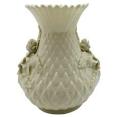 VINTAGE Irish Belleek 5 1/2 Inch Lovely Vase  Layered Flowers