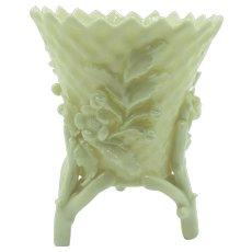 VINTAGE Irish Belleek Cream Color Footed ToothPick Holder