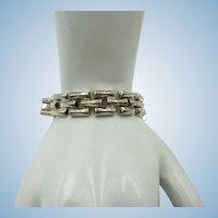VINTAGE Sterling Bracelet 15 Links Made in Italy