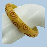 VINTAGE Bakelite Butterscotch Bracelet of Rings