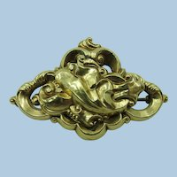 VICTORIAN Gold Filled Small Coller Brooch
