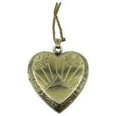 VINTAGE Sterling Locket with Gold Overlay Chain 18 Inches Gold Filled