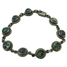 VINTAGE Beautiful Link Sterling Bracelet  Made In Mexico