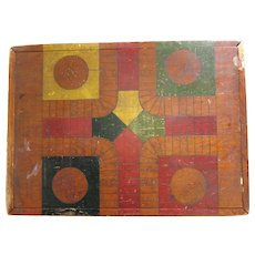 Antique Checker and Mystery Game Board  Pre 1900
