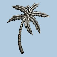 VINTAGE Older Sterling (tested) and no name Palm Tree Lovely!