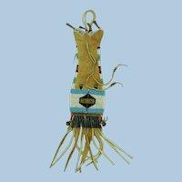 VINTAGE  40'S  Cheyenne Miniature Pipe Bag 20 Century