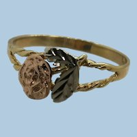 VINTAGE  10k  Black Hills Gold Ring for Child or Young Lady  Size 7