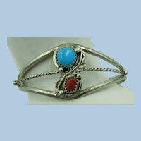 VINTAGE Smaller Native American Bracelet  Marked Sterling