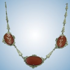 VINTAGE Very Old Sterling Fashion Necklace  16 Inches