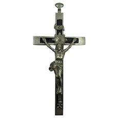 VINTAGE  Ebony  Crucifix  Cross Large 5 1/4 Inches