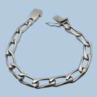 VINTAGE Older Mexican Silver Man's Link Bracelet  Weighs 31.7g