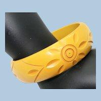 VINTAGE 40'S Bakelite bright Yellow Bracelet