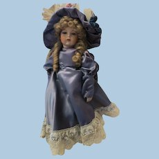 VINTAGE Bisque   20 Inch Doll  With Pretty Curls