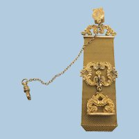VINTAGE Gold-Filled  Locket Vest Watch Holder With Blank Fob